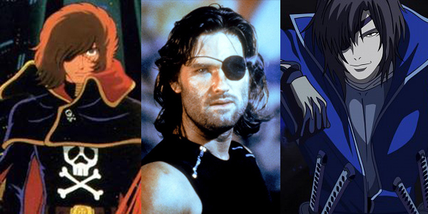 Captain Harlock, Snake Plisskin, and Date Masamune